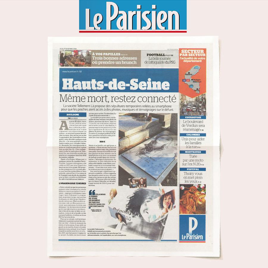 Tellement Là - revue de presse - LE PARISIEN
