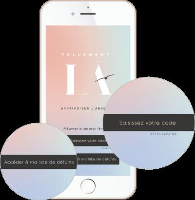 Application mobile Tellement Là sécurisée